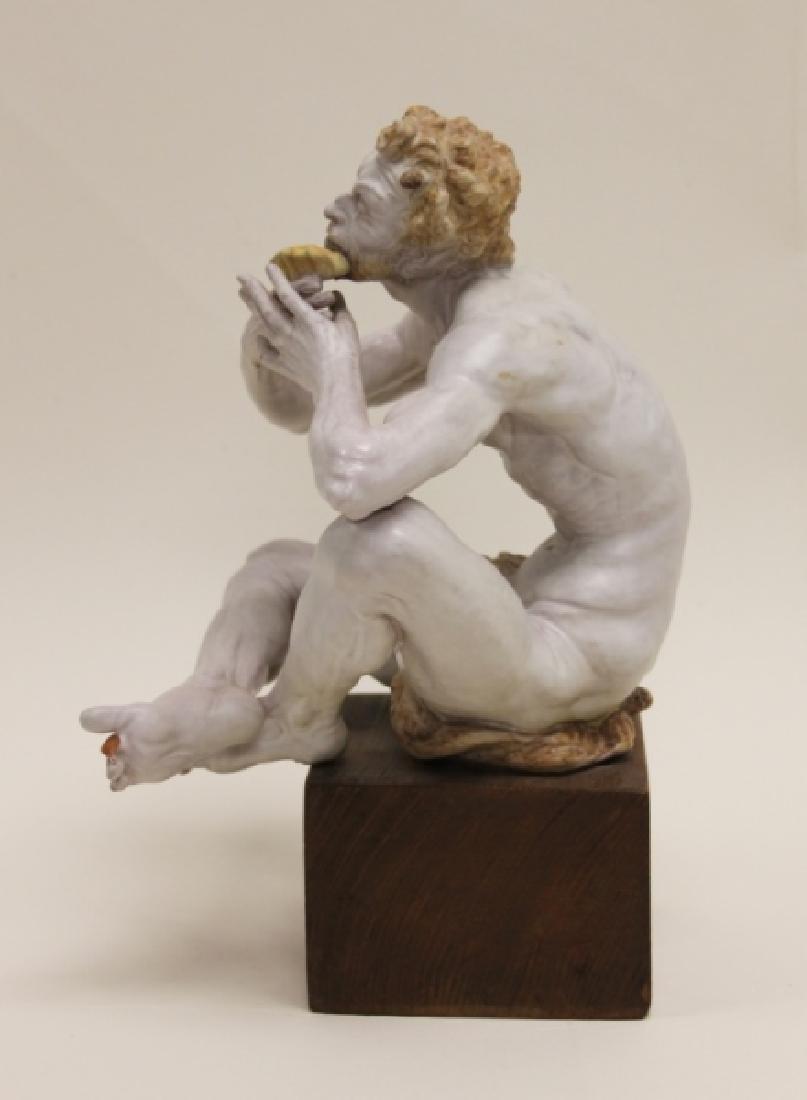 "Prof Eugenio Pattarino Terracotta Sculpture ""Pan"" - 7"
