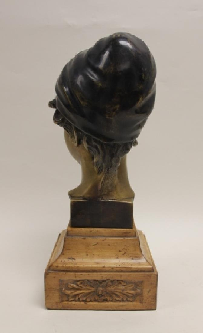 Maitland Smith Art Nouveau Bronze Bust Young Girl - 5