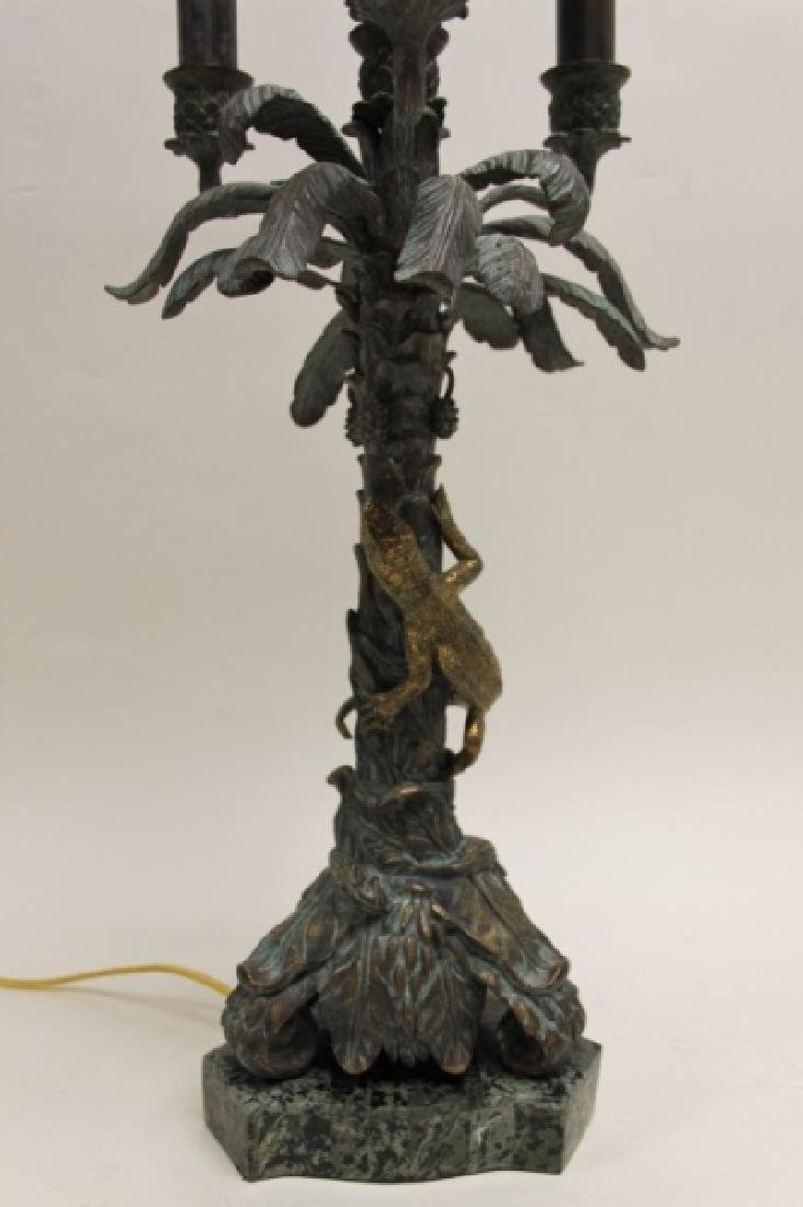 Maitland Smith Bronze Palm Tree & Lizard Lamp - 7