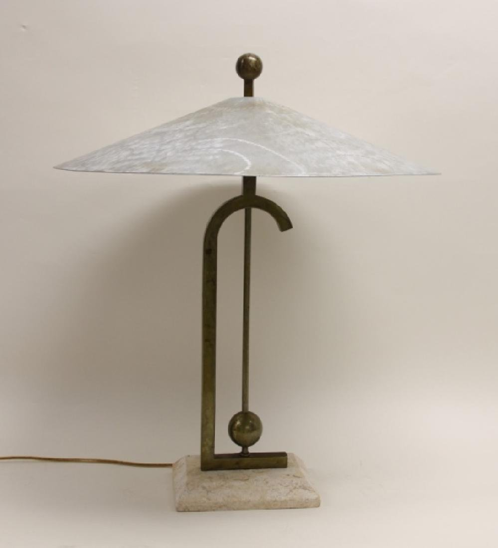 Maitland Smith Burnished AL, Brass & Coral Lamp