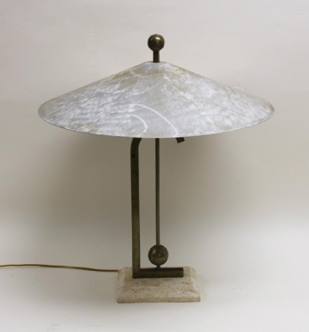 Maitland Smith Burnished AL, Brass & Coral Lamp - 2