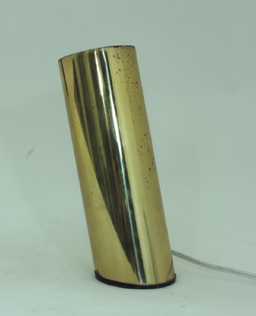1970s Slanted Brass Tube Wall Sconce or Spot Light