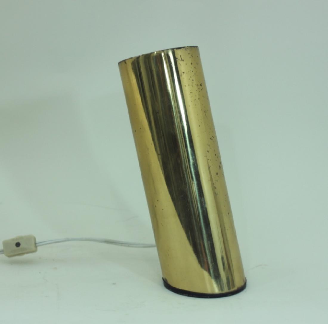 1970s Slanted Brass Tube Wall Sconce or Spot Light - 8