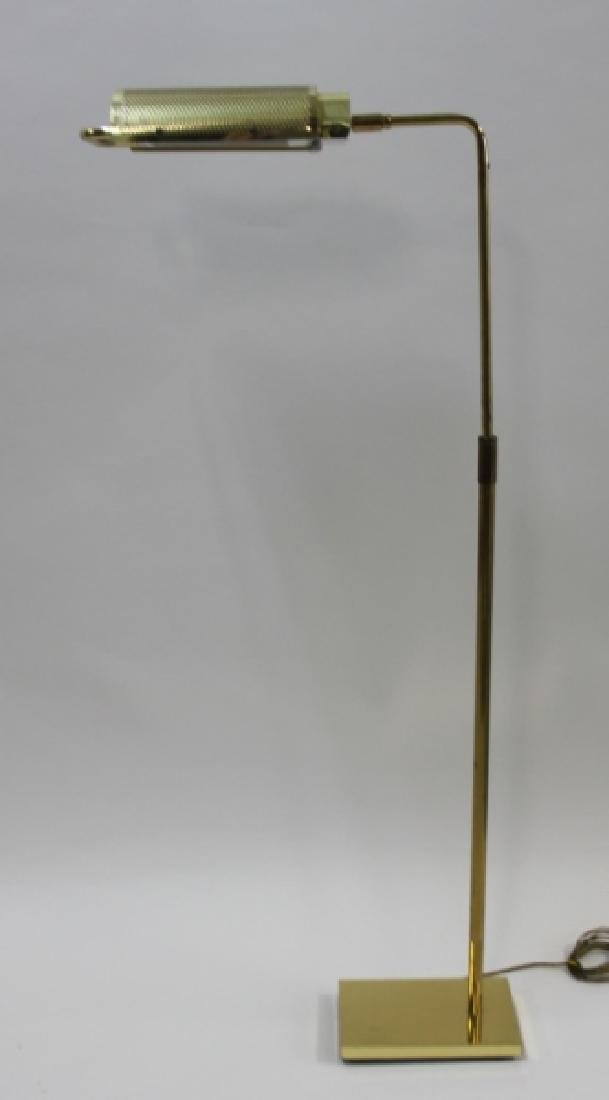 "George Nelson Koch Lowy Brass ""Eyelash"" Floor Lamp"