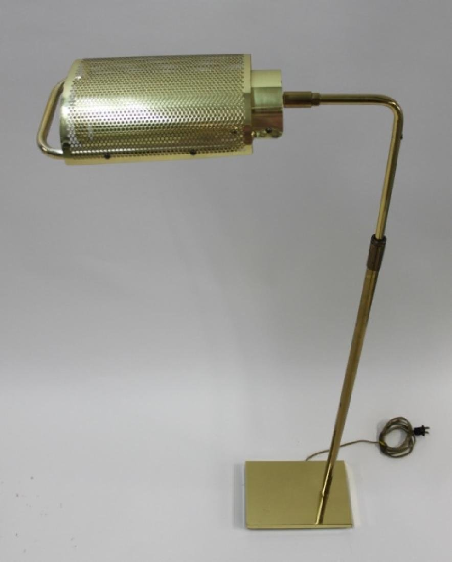 "George Nelson Koch Lowy Brass ""Eyelash"" Floor Lamp - 3"