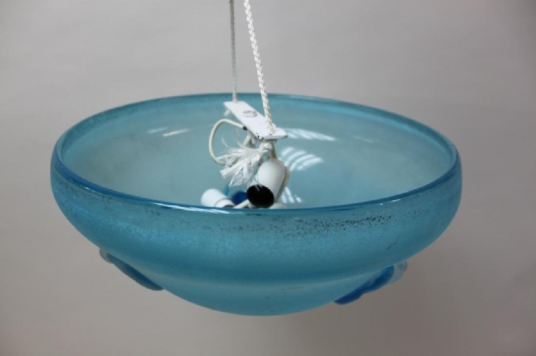 Cenedese Blue Scavo Glass Pendant Light Chandelier - 2