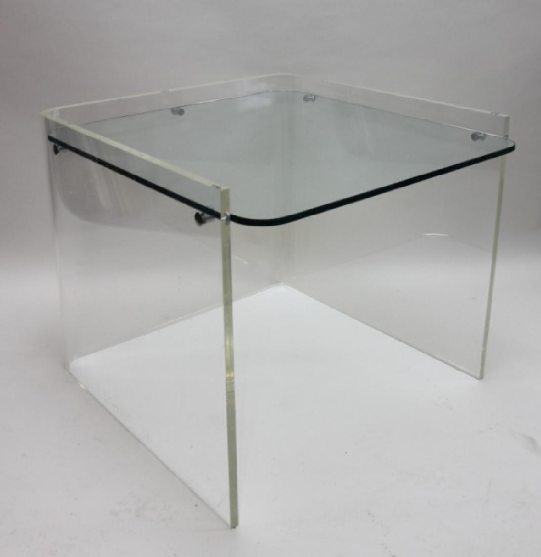 George Hollis Jones Lucite Glass Sofa / End Table