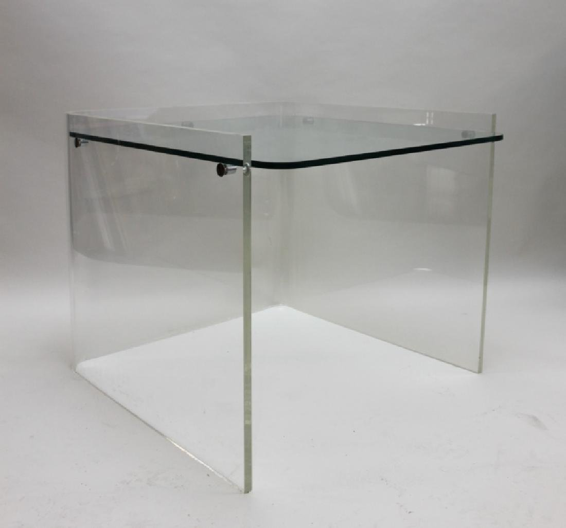 George Hollis Jones Lucite Glass Sofa / End Table - 2