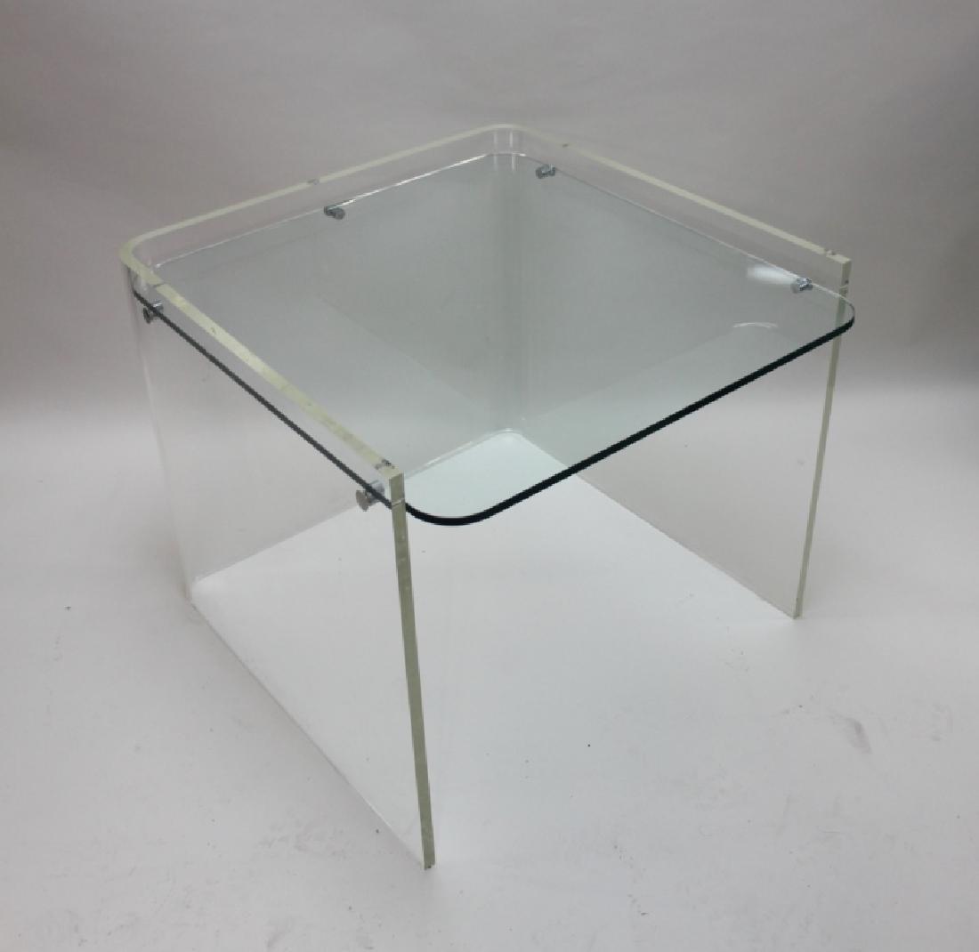 George Hollis Jones Lucite Glass Sofa / End Table - 3
