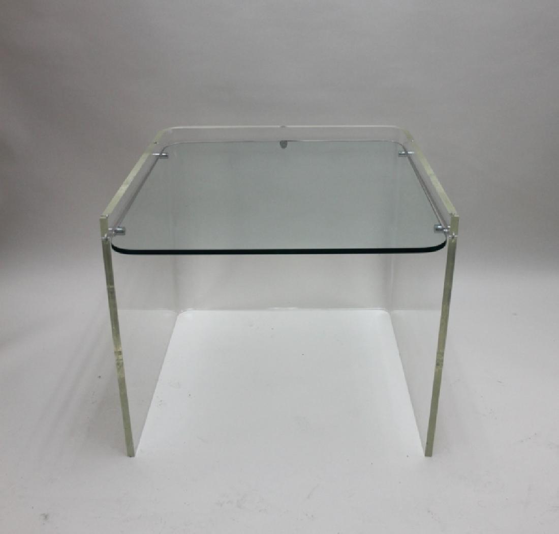 George Hollis Jones Lucite Glass Sofa / End Table - 4