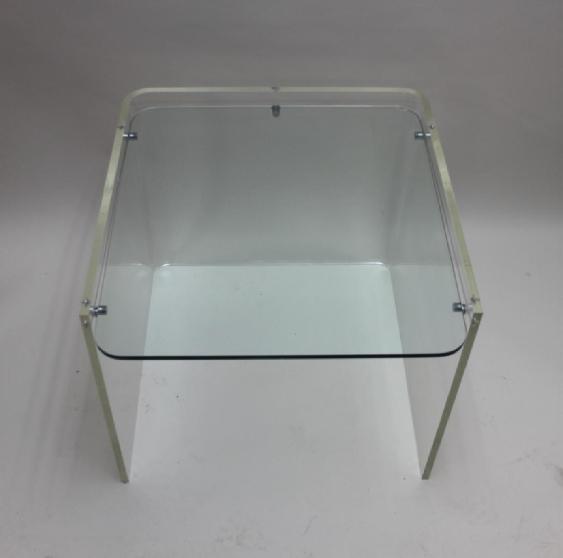 George Hollis Jones Lucite Glass Sofa / End Table - 5