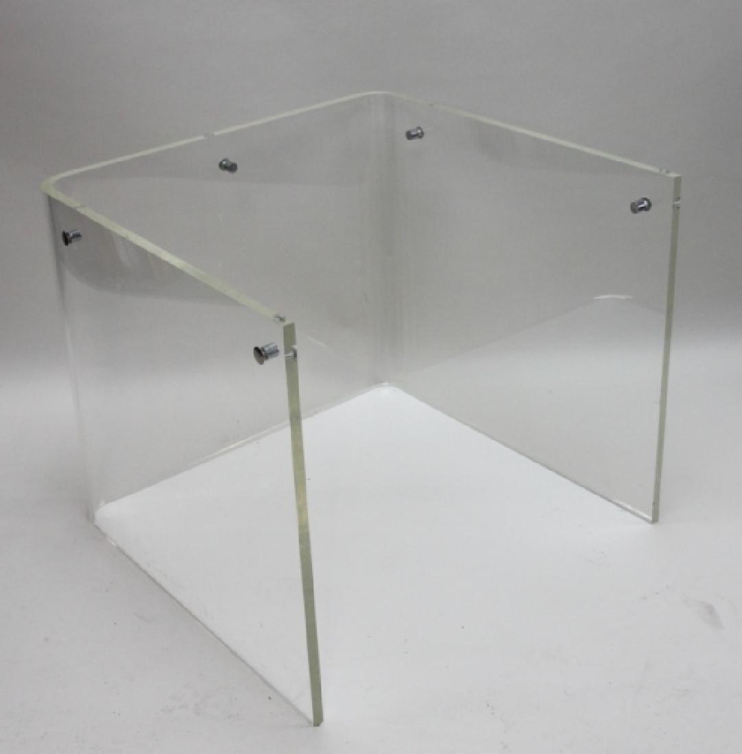 George Hollis Jones Lucite Glass Sofa / End Table - 6