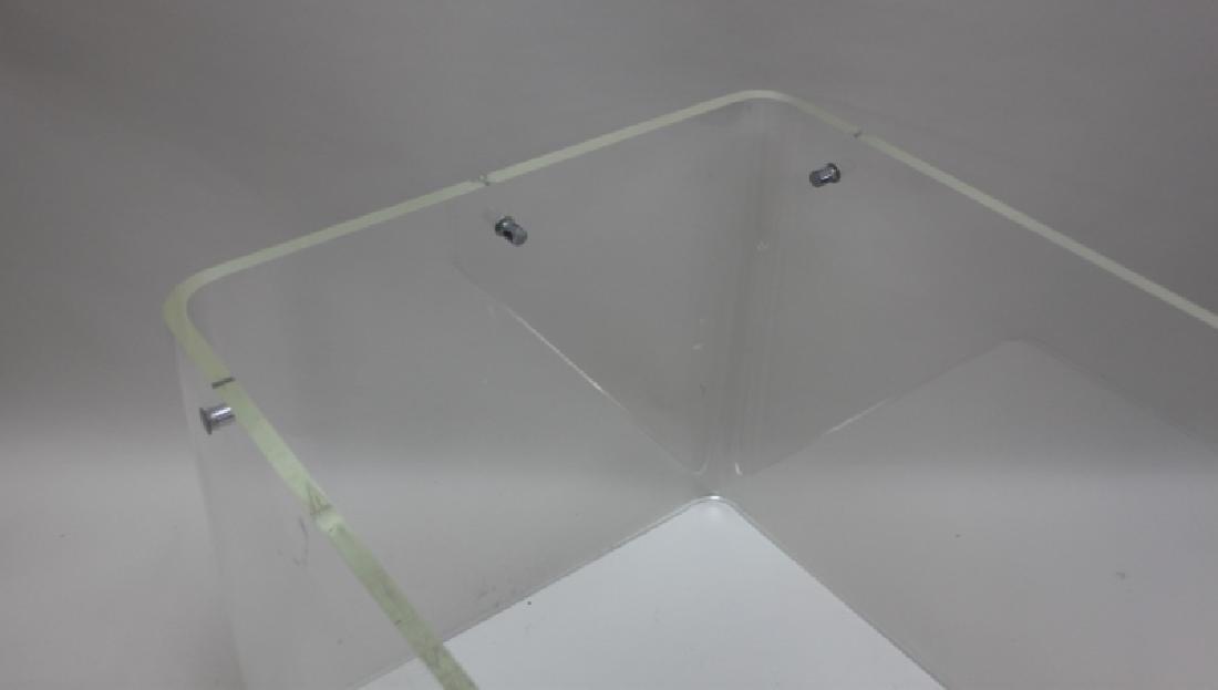 George Hollis Jones Lucite Glass Sofa / End Table - 7