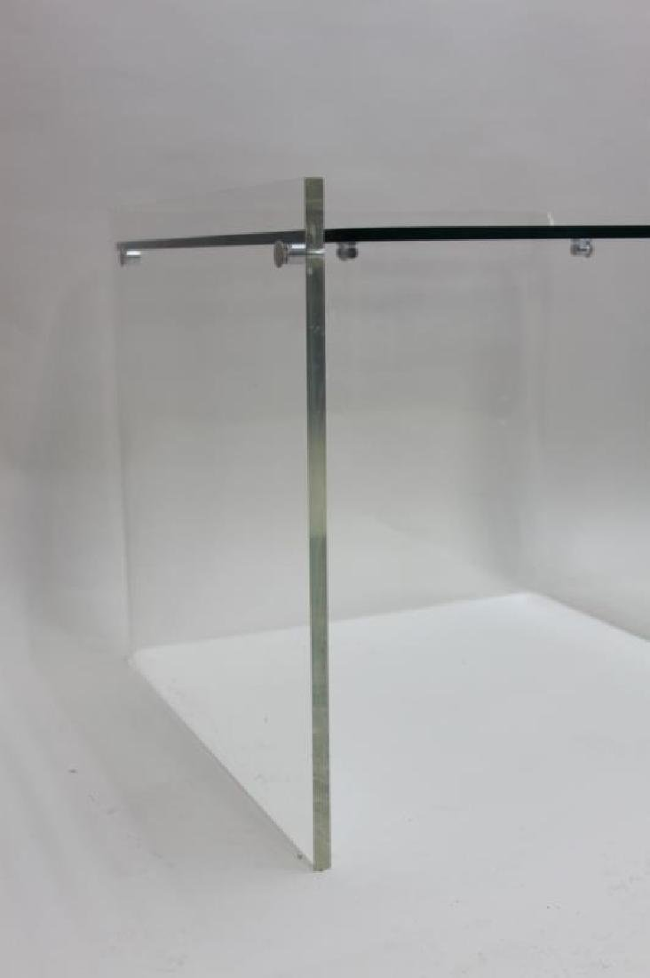 George Hollis Jones Lucite Glass Sofa / End Table - 9