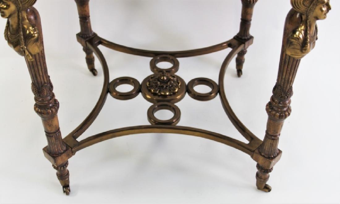 Maitland Smith Empire Marble, Wood & Bronze Table - 4