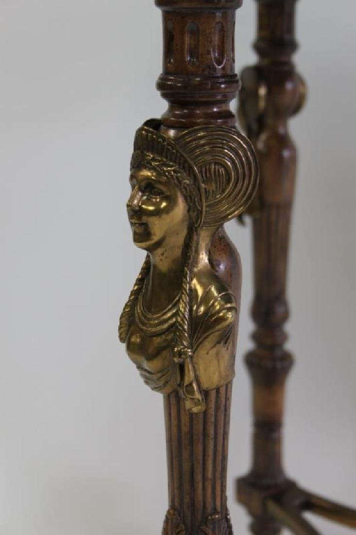 Maitland Smith Empire Marble, Wood & Bronze Table - 5
