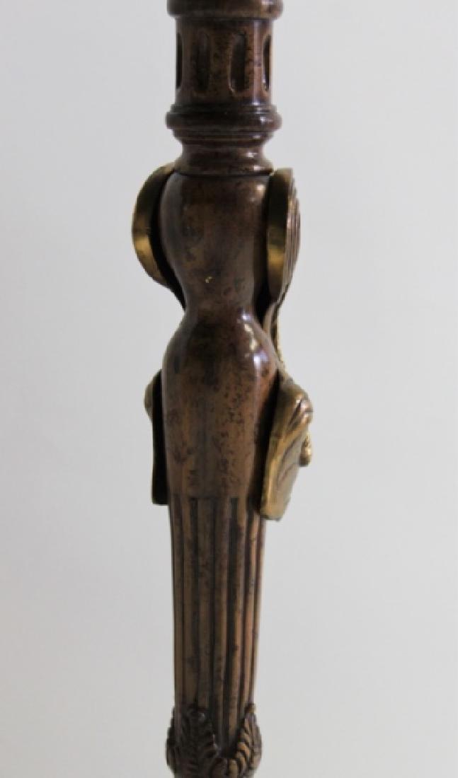 Maitland Smith Empire Marble, Wood & Bronze Table - 6