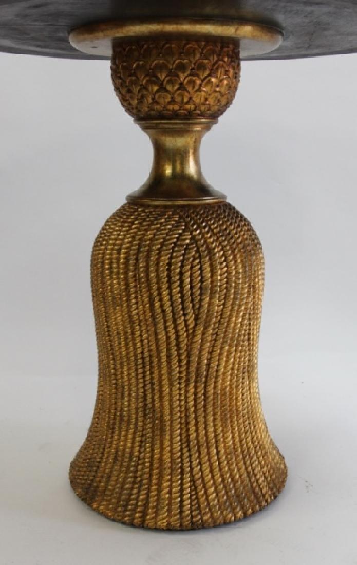 Donald Joseph 22K Gilt Pineapple Tassel Table - 5