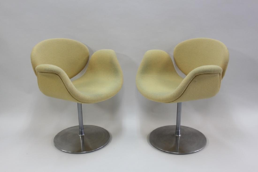 Pair Pierre Paulin Artifort Little Tulip Chairs