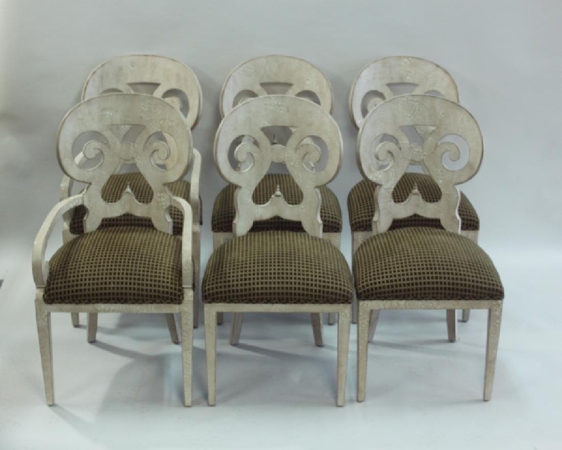 (6) Italian Hollywood Regency Dining Chairs