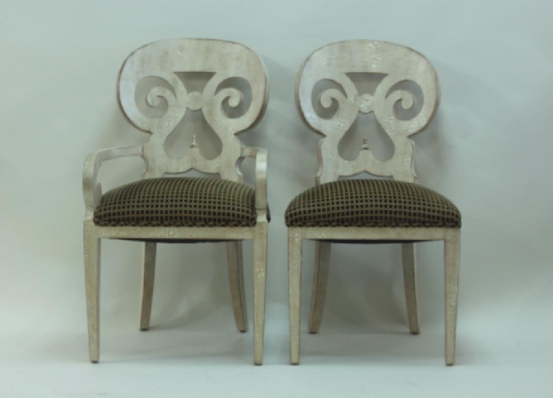 (6) Italian Hollywood Regency Dining Chairs - 2