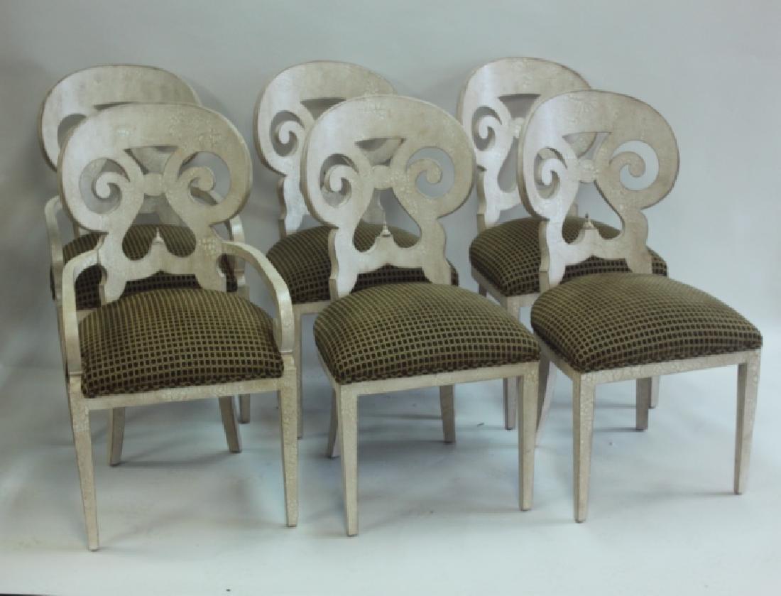 (6) Italian Hollywood Regency Dining Chairs - 7