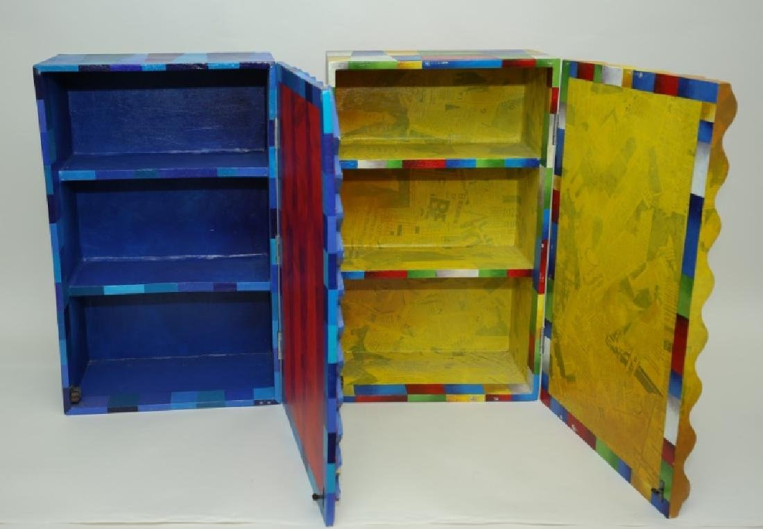 (2) Marcela Cortes Cubist Painted Wall Cabinets - 5
