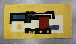 "Fernand Leger 1881-1955 ""Jaune"" Wool Tapestry Rug"
