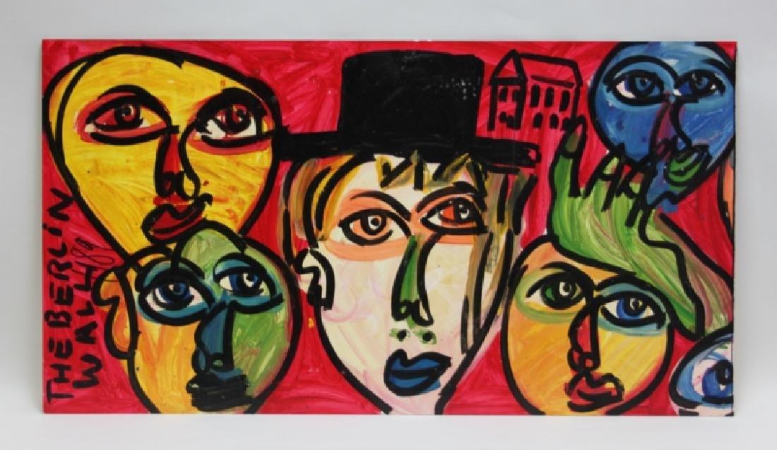 """Monumental Peter Keil Painting Berlin Wall"""" 1989 - 2"""