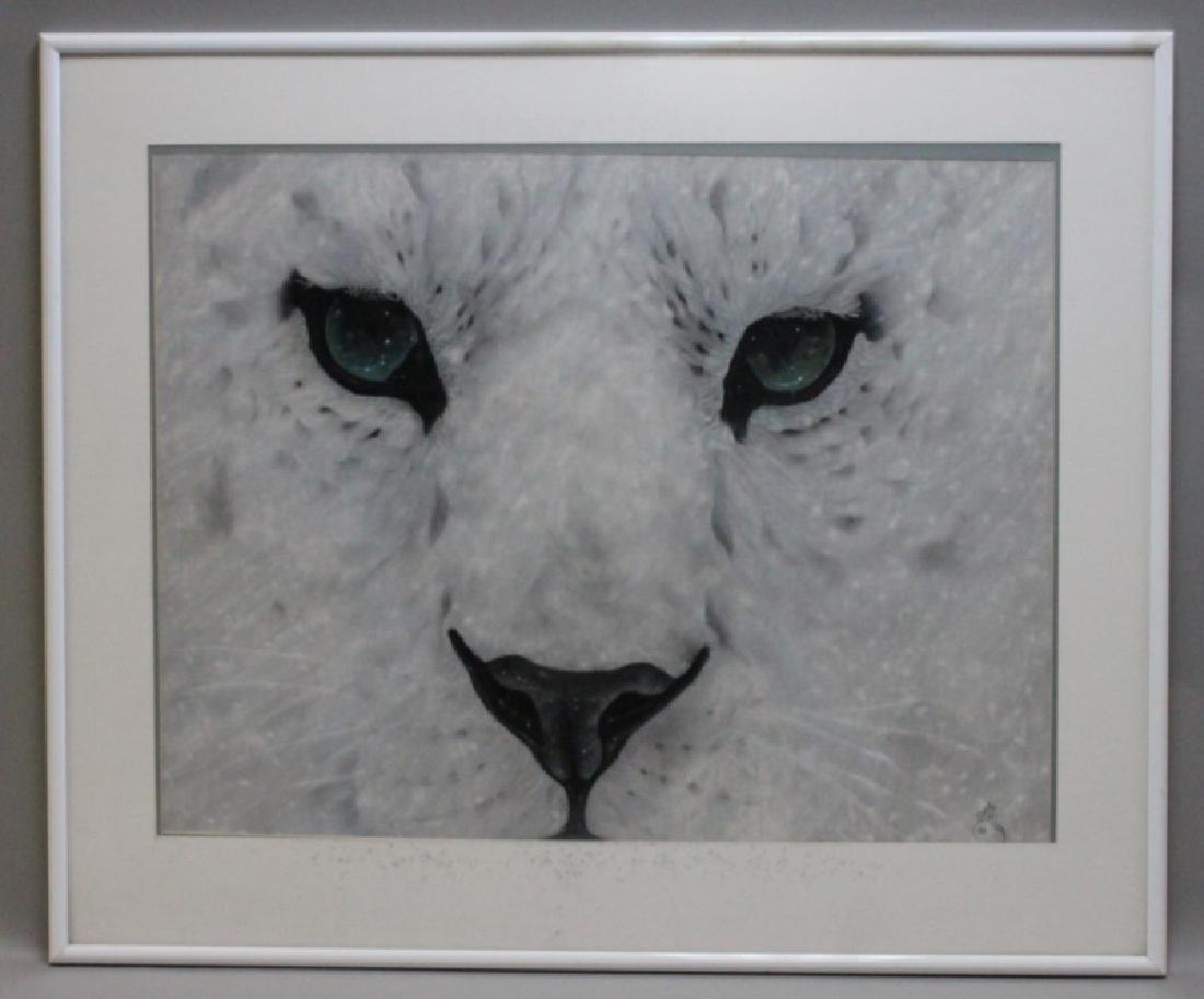 "D Arthur Wilson (American) ""Snow Leopard"" Original - 2"