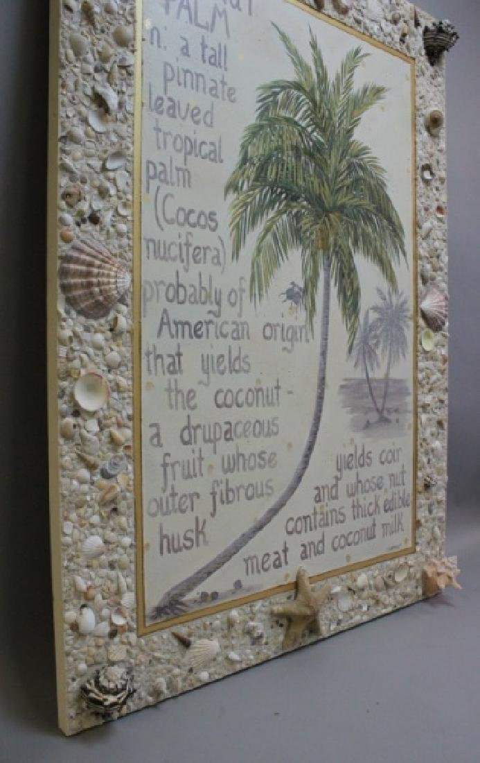 C.K. Mckinley Oil /Canvas Coconut Palm Shell Frame - 4