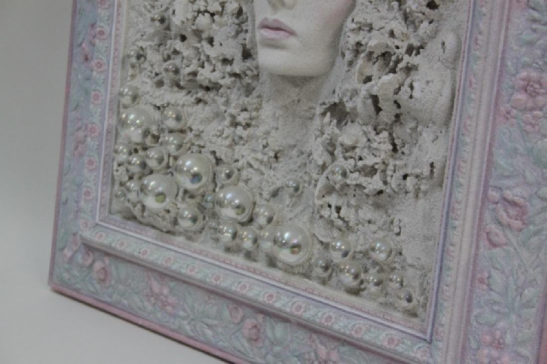 1980's Female Portrait Mixed Media Wall Sculpture - 4