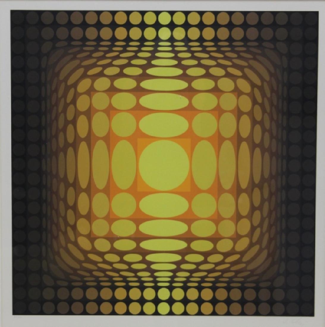 "Victor Vasarely 1906–1997 ""Koska Mez"" Screen Print"
