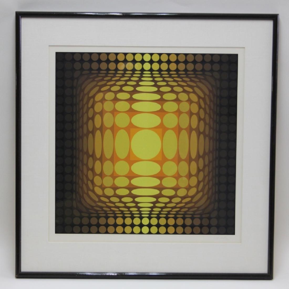 "Victor Vasarely 1906–1997 ""Koska Mez"" Screen Print - 2"