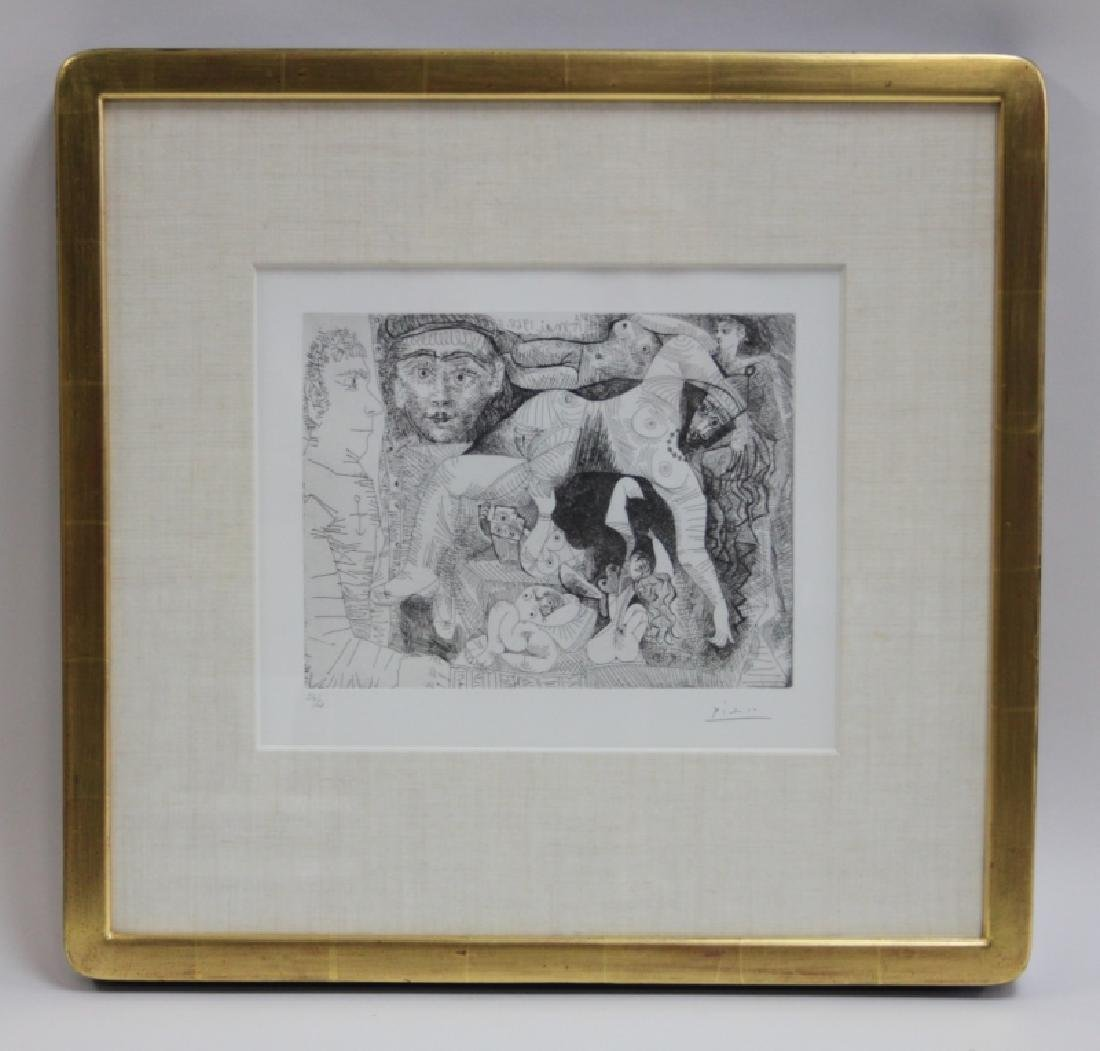 Pablo Picasso Original May 1968 Drypoint Etching