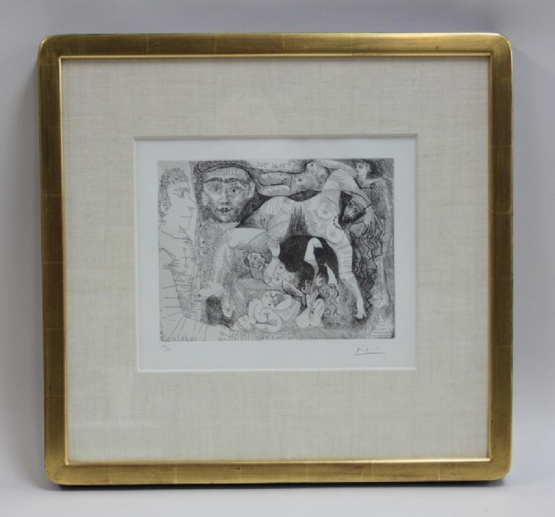 Pablo Picasso Original May 1968 Drypoint Etching - 2