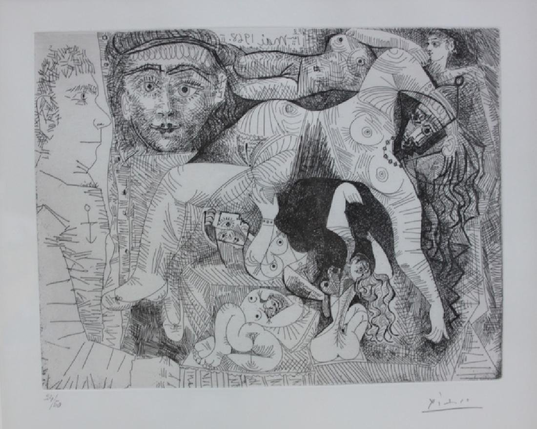 Pablo Picasso Original May 1968 Drypoint Etching - 3