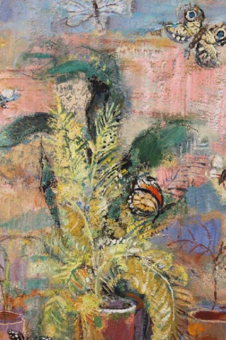 "E Mationi Hungarian, Oil on Board ""Butterflies"" - 4"