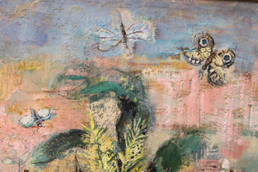 "E Mationi Hungarian, Oil on Board ""Butterflies"" - 5"