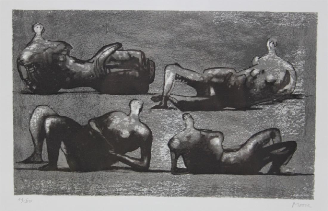 Henry Moore 1898-1986 British 4 Reclining Figures