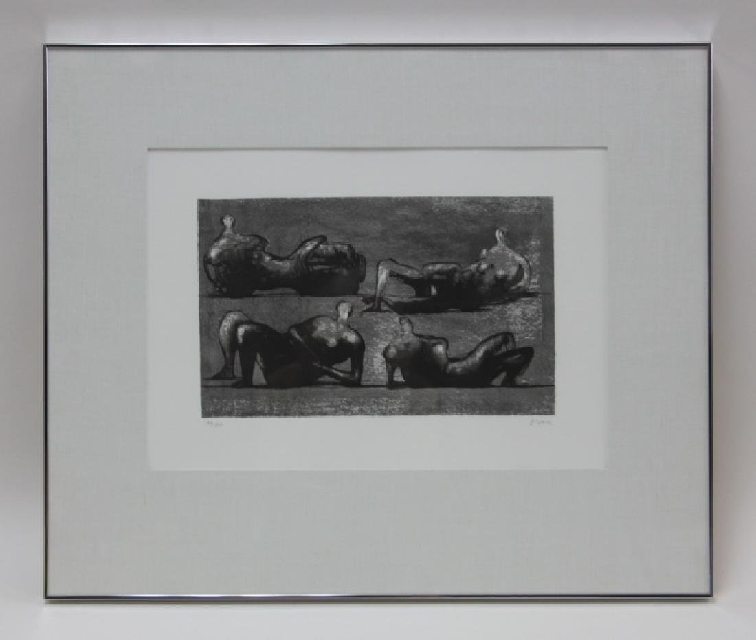 Henry Moore 1898-1986 British 4 Reclining Figures - 2