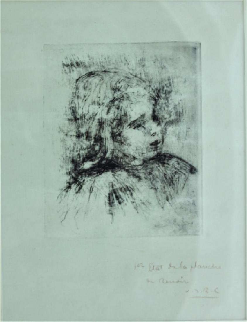 Pierre Auguste Renoir 1841-1919 Etching of Claude