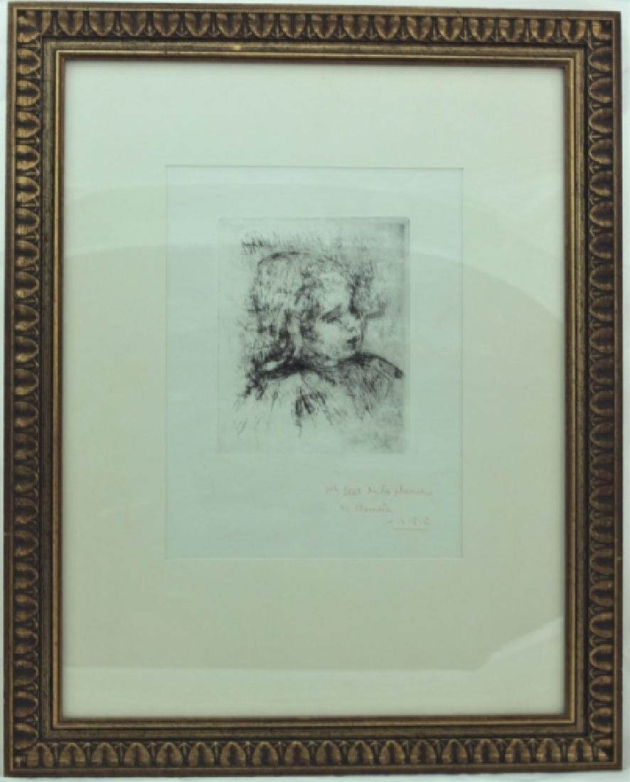 Pierre Auguste Renoir 1841-1919 Etching of Claude - 2