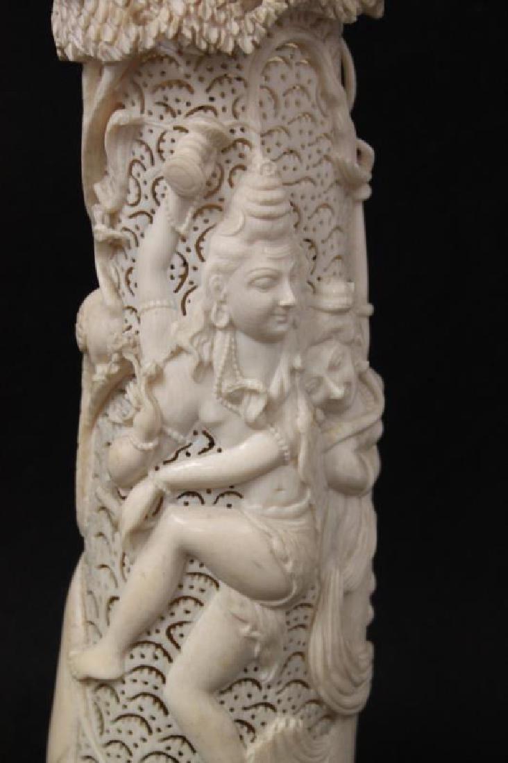 19thC India Shiva & Parvati Hindu Potpourri Vessel - 9