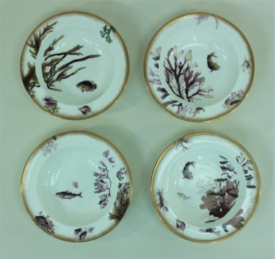 JE Caldwell Limoges Porcelain Fish Bowls & Platter - 3