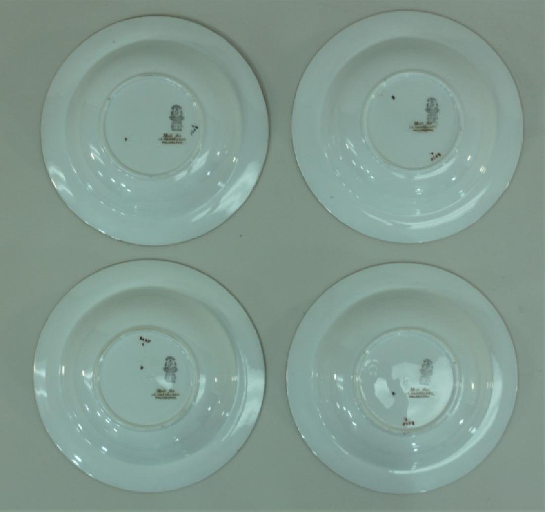 JE Caldwell Limoges Porcelain Fish Bowls & Platter - 4
