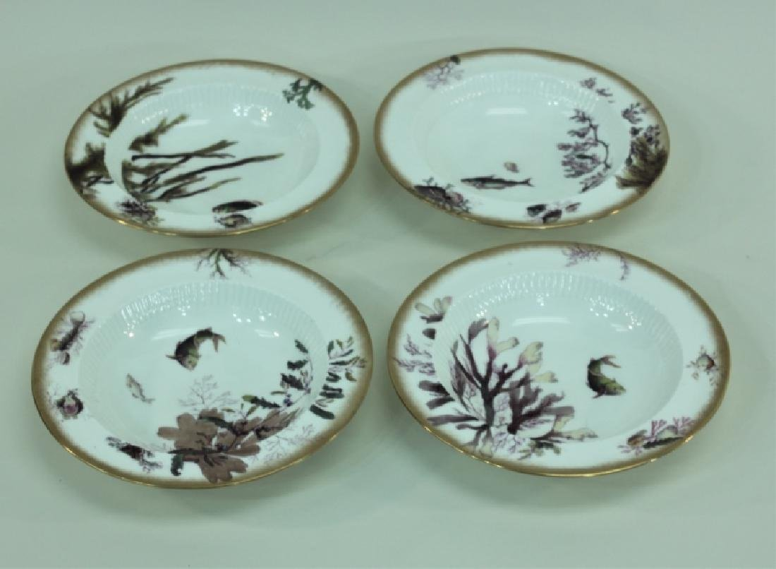 JE Caldwell Limoges Porcelain Fish Bowls & Platter - 5