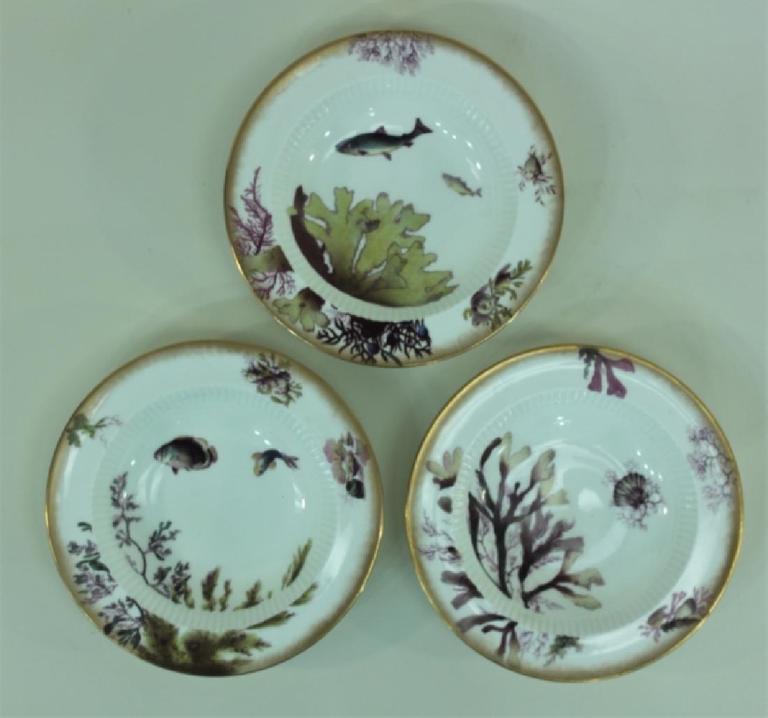 JE Caldwell Limoges Porcelain Fish Bowls & Platter - 6