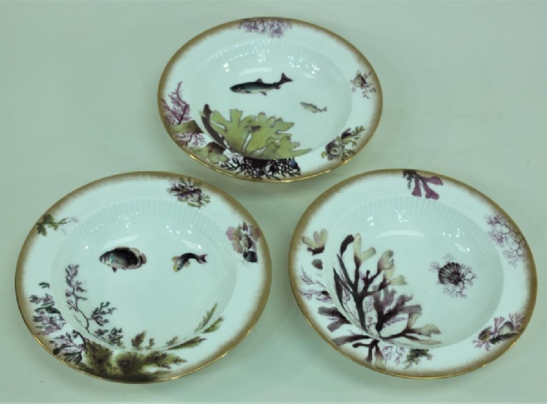 JE Caldwell Limoges Porcelain Fish Bowls & Platter - 8