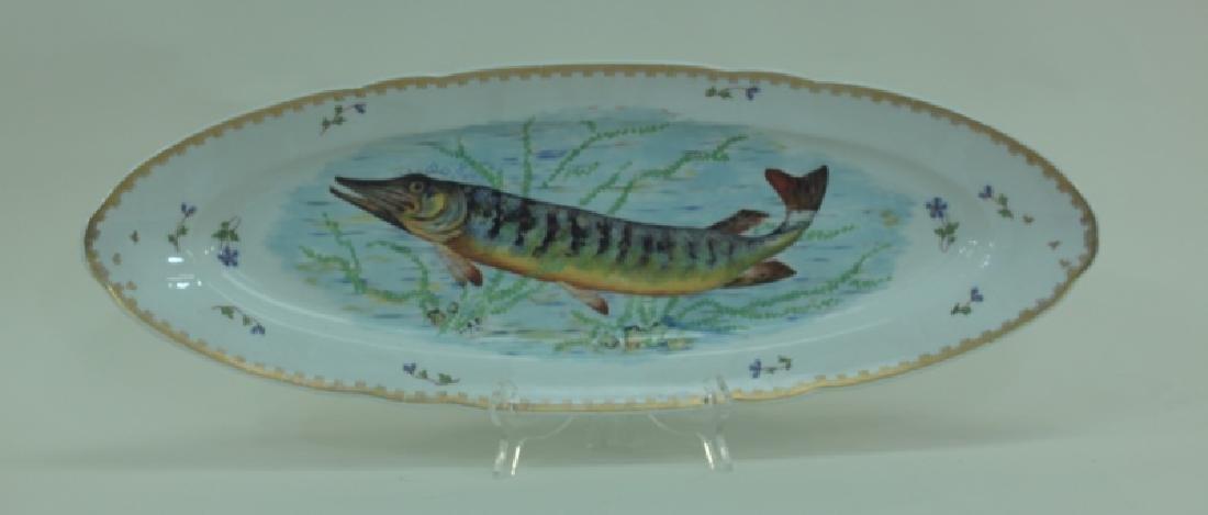 JE Caldwell Limoges Porcelain Fish Bowls & Platter - 9